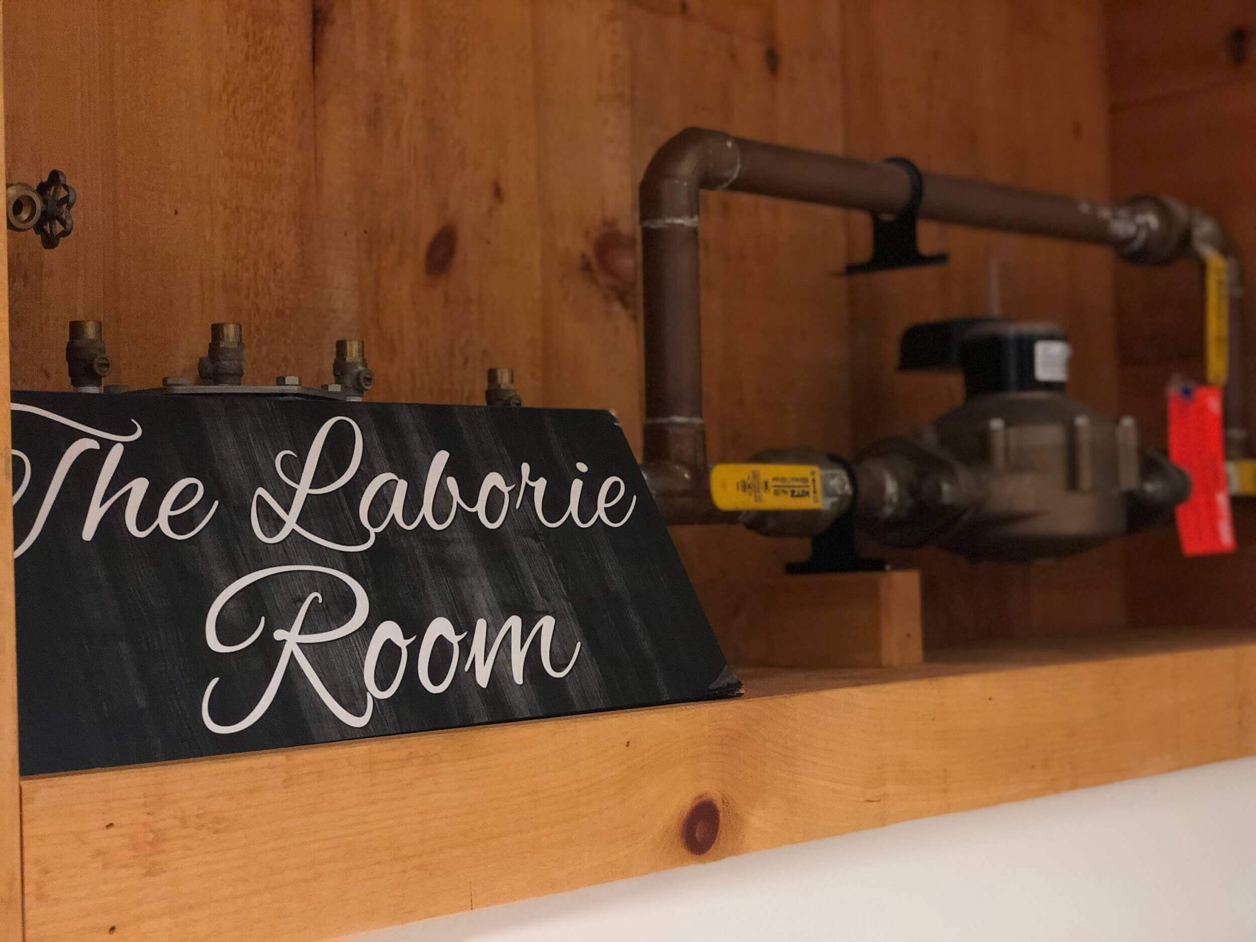 The Laborie Room sign at Taris Restaurant